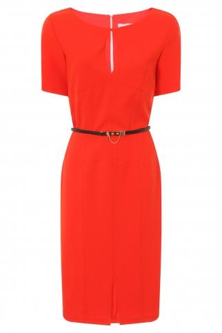 Tomato Keyhole Stitch Detail Dress