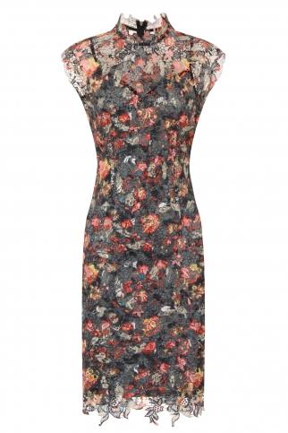 Floral Print Crochet Dress