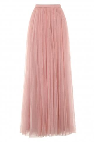 Rose Tulle Maxi Skirt