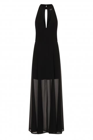 Black Keyhole Maxi Dress With Slits