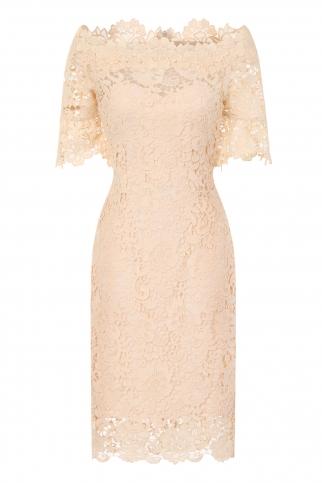 Cream Crochet Bardot Dress