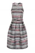 Jacquard Stripe Midi Dress