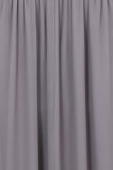 Grey Jewel Neck Maxi Dress
