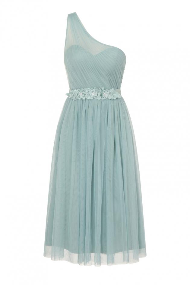 Sage One Shoulder Dress