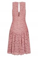 Apricot Lace Panel  Midi Dress