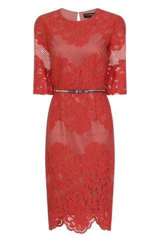 Terracotta Multi Lace Dress