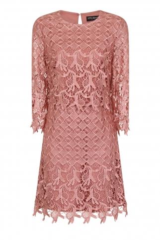 Apricot Crochet Shift Dress