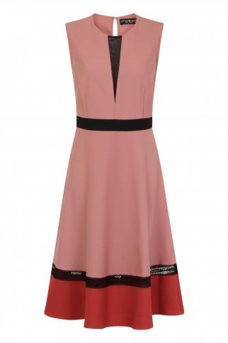Apricot Colour Block Dress
