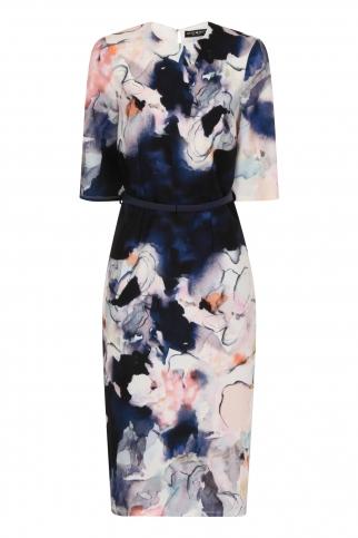 Floral Blur Bodycon Dress
