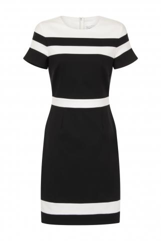 Black And Cream Panel Dress