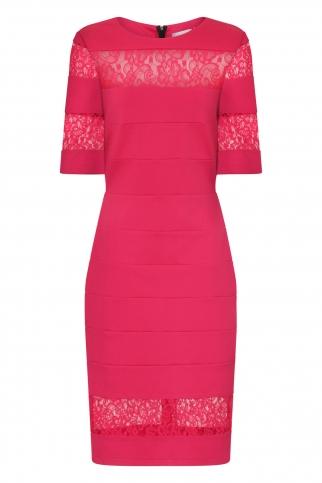 Raspberry Lace Insert Dress