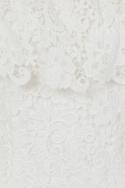 White Crochet Dress