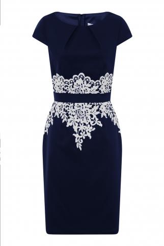 Navy Lace Detail Dress