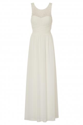 Cream Embellished Maxi Dress