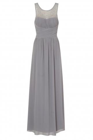Grey Embellished Maxi Dress