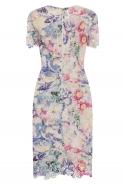 Print Crochet Dress