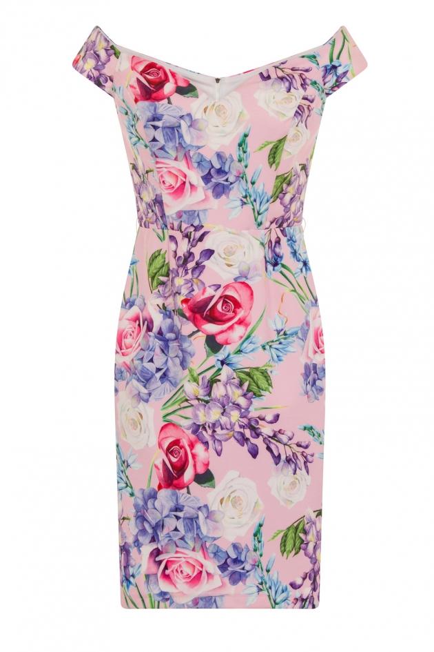 Print Bardot Dress