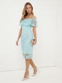Mint Bardot Dress
