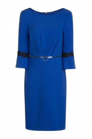Cobalt Pleat Dress