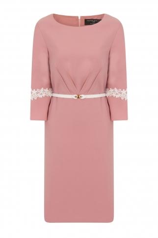 Pink Pleat Dress