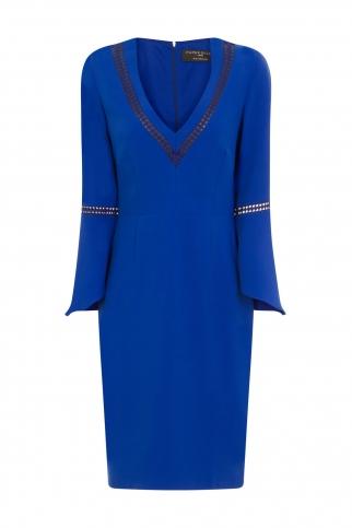 Cobalt Fluted Dress