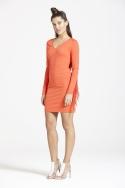 Bright Tomatoe Tassel Dress