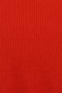 Tomato Colour Ribbed Jumper Bodycon