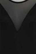 Black Mesh Insert Bodysuit
