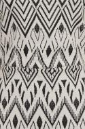 Graphic Print Mesh Insert Mini Dress
