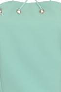 Aqua Blue Strappy Crop Top