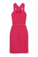 Pink Crossover Strap Dress